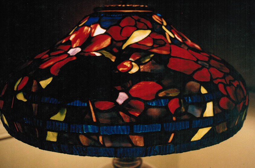"Tiffany Reproduction 18"" Peony Lamp"