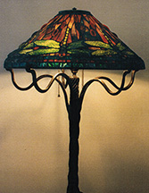 "Reproduction of Tiffany 20"" Dragonfly Lamp"