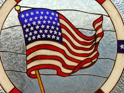 Old Glory Stained Glass Window