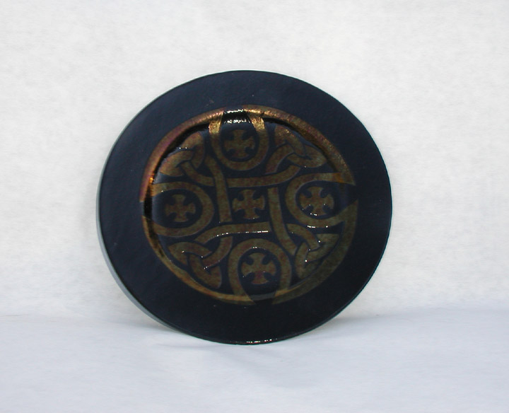 "7"" Slumped Glass Celtic Cross Plate"