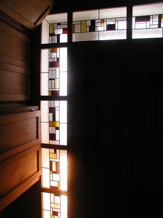 Stained Glass panels as built in lighting