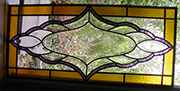 Beveled and Colored Glass Transom