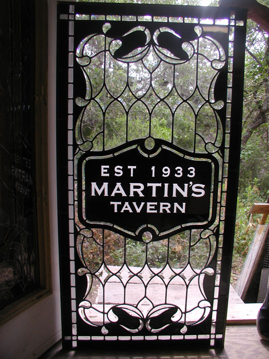 Custom Leaded Glass Entryway Windows For Martins Tavern In