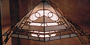 Modern Flat Panel Hanging Stained Glass Lamp