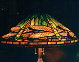 16 inch Tiffany Reproduction Dragonfly Lamp in Green