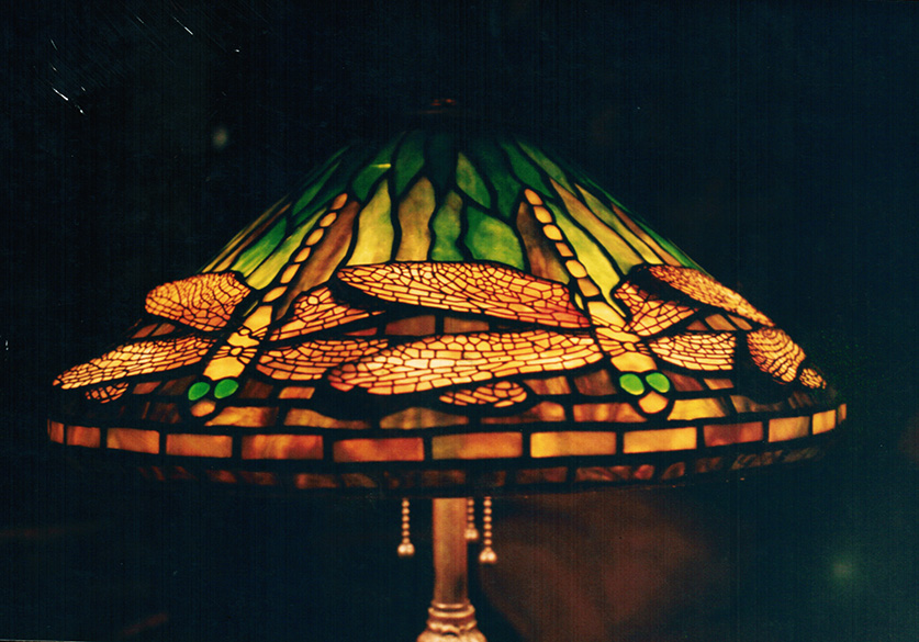 stained glass reproduction of an original tiffany 16 dragonfly cone. Black Bedroom Furniture Sets. Home Design Ideas