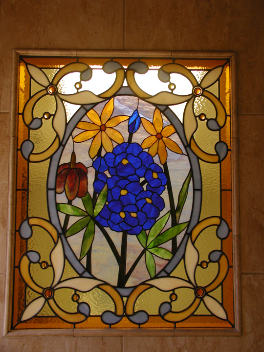Texas Wild Flower Bathroom Window