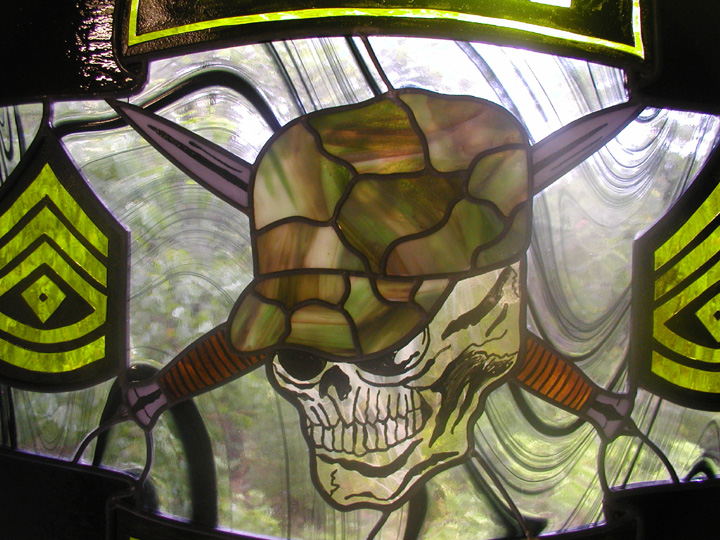 Army Rangers Stained Glass Window