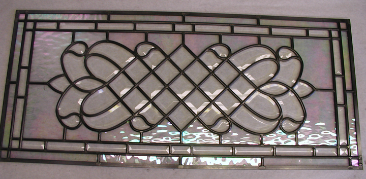 Leaded beveled glass window
