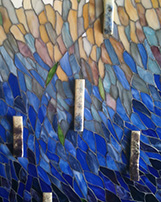 Mosaic with Fused Glass Elements