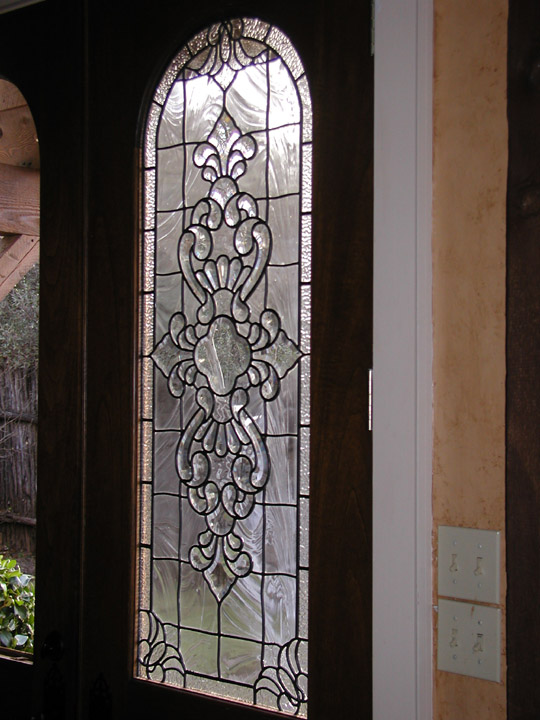 ... Beveled and clear textured glass patio door panels & Custom Beveled Glass Windows and Doors leaded beveled glass Pezcame.Com