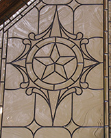 Castle Leaded Glass Texas Star Peak Windows