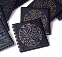 Fused Glass Celtic Tiles