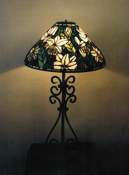 "Original Design DGS 20"" Summer Orchid Lamp"