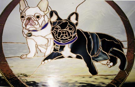 Stained Glass Dog Portrait