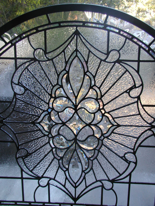 Custom Leaded glass fireplace screen