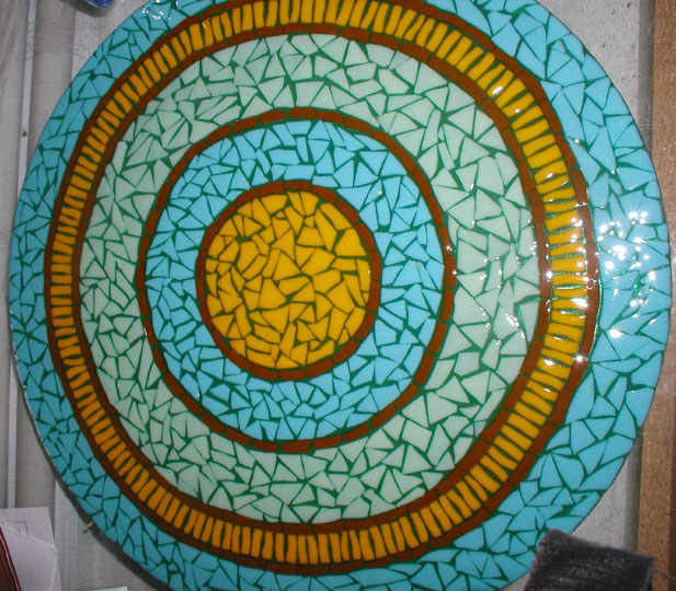 Mosaic Style Fused Glass Sink