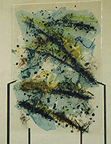 Fused Glass Sculptural Panel Clear