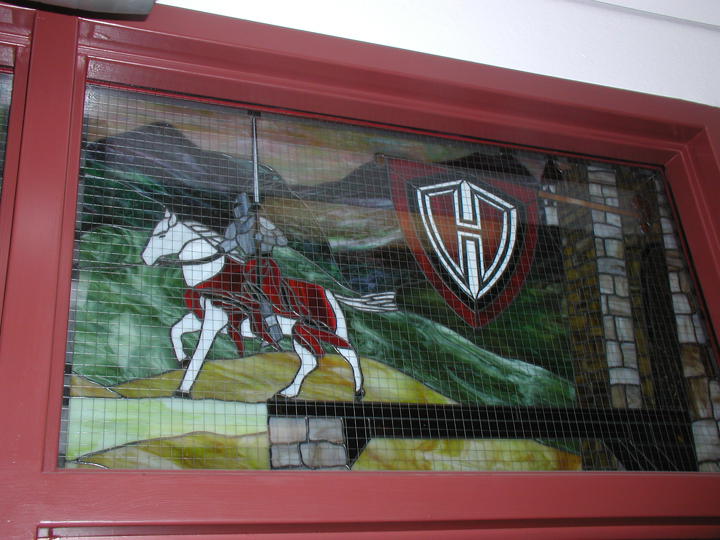 Public Stained Glass Installations And Signage