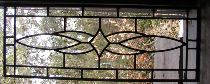 Beveled leaded glass window