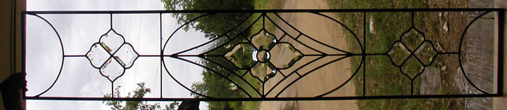 Leaded Restoration glass and bevels transom window