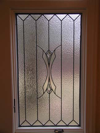 Bathroom privacy leaded glass windows