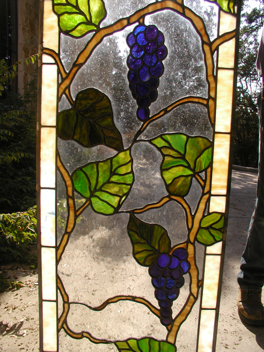 leaded glass grapes window