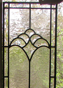 Simple Leaded Glass With Bevels Panel