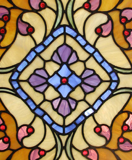 Langston Stained glass Door Panel