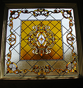 Bathroom Leaded Stained Glass Window