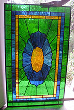 Stained Glass Simple Victorian Transom