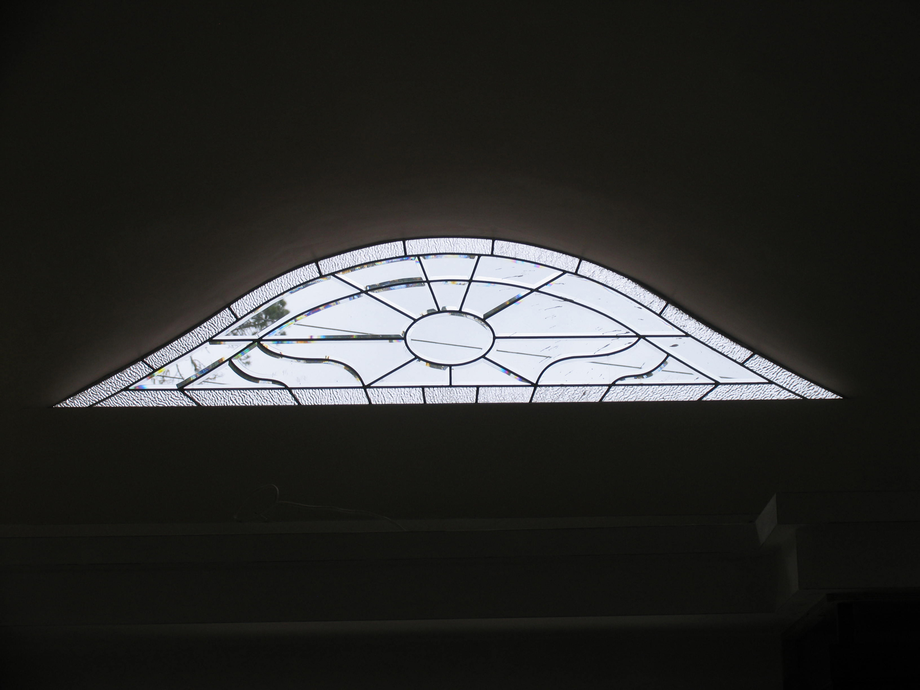 Custom Beveled Leaded Glass Eyebrow Windows