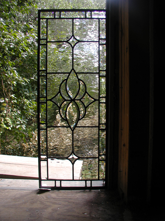 Clear leaded glass and bevels windows