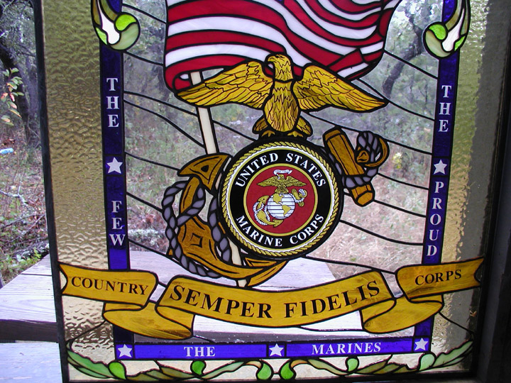 Marines Stained Glass Window