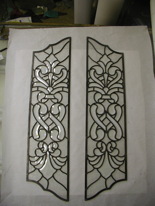 Leaded Glass door panels & Custom Beveled Glass Windows and Doors leaded beveled glass Pezcame.Com