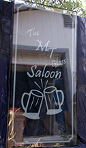 M T Glass Saloon Etched Glass Door