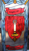 Light of the world window for Reformed Fellowship Church