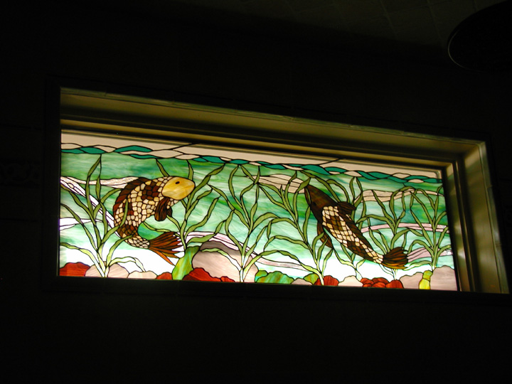 Stained Glass Koi Fish Windows