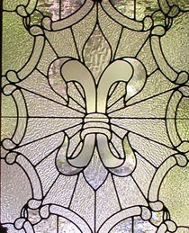 Fleur de Lis Leaded Glass Door Panel