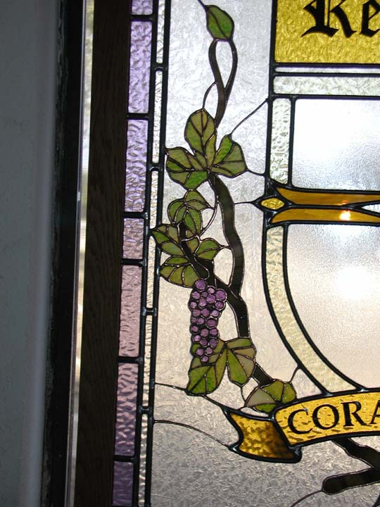 Regents Stained Glass Logo with Grapes