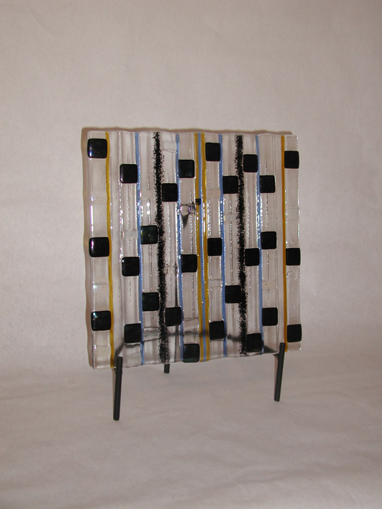 Fused Glass Panel on Stand