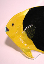Fused Glass Rock Beauty Fish Bowl