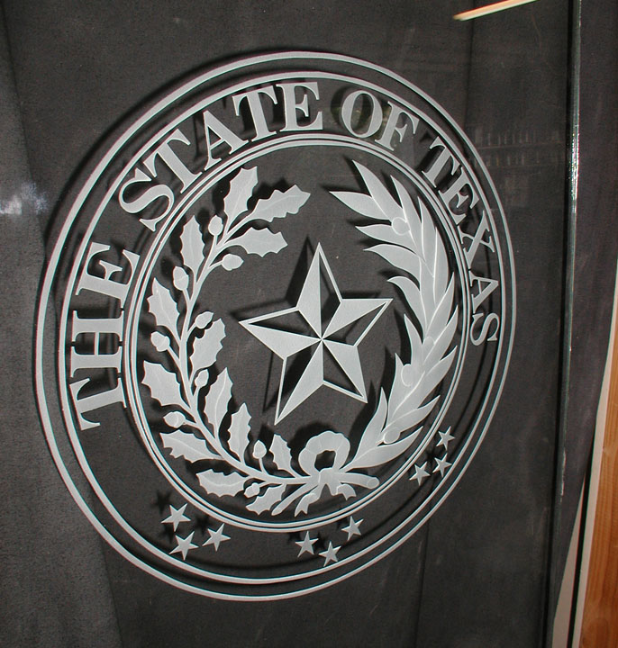 State of Texas Seal Carved Glass Door & of Texas Seal Carved Glass Door Pezcame.Com