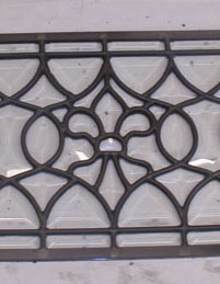 All Custom Bevel Fleur de Lis Window