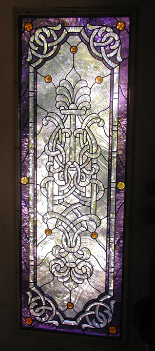 Studio leaded stained glass door
