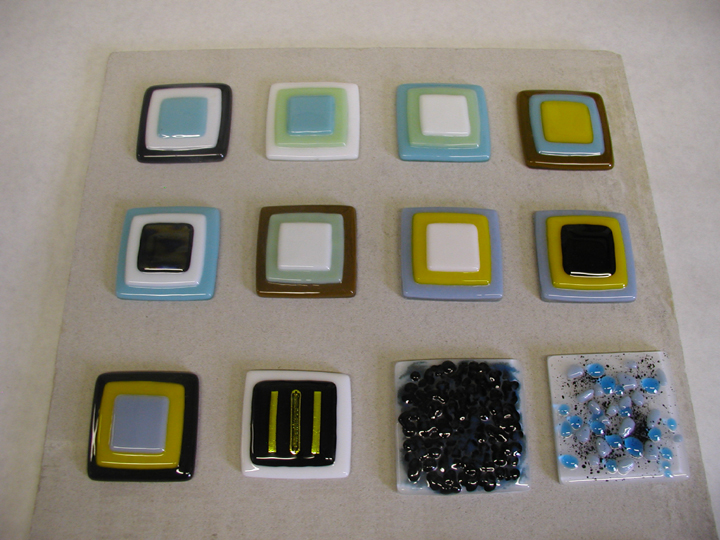 fused glass tiles