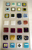 Fused Glass Tile Samples
