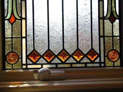 Visconti Stained Glass Bathroom Privacy Window