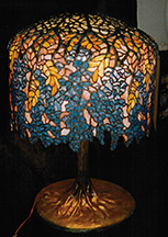 "Reproduction of Tiffany 18"" Wisteria Lamp"