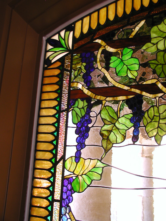 Stained Glass Grapes With Leaded Border